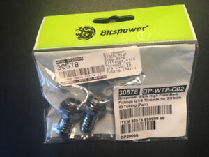 "Bitspower High Flow Barb fitting - G1/4"" Silver Shining 3/8"""