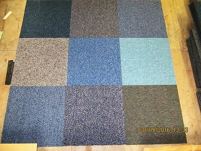 Random Mixed Hard Wearing Carpet Tiles Only £25 per box of 20