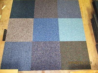 Random Mixed Hard Wearing Carpet Tiles Only £20 per box of 20
