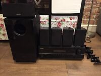 Onkyo HT-R380 AV receiver with speakers and sub