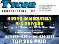 A/Z Drivers for Log Haul - White River, ON