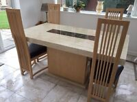 MARBLE DINING TABLE WITH 4 CHAIRS