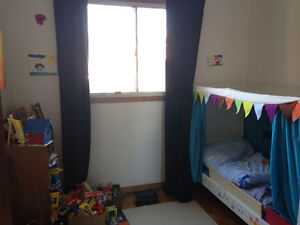 Ikea children's bed with curtains