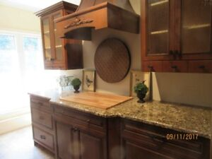 Solid Birch Kitchen Display with Hood