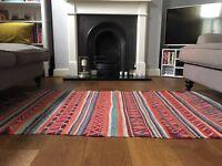 Antique vintage Moroccan kilim rug carpet