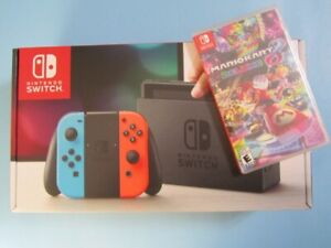 Brand new-Nintendo Switch Console with Mario Kart8 Deluxe