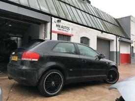 Audi A3 2004-2008 s line breaking black / grey engine gearbox door