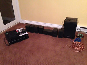 Yamaha Receiver and surround sound speakers