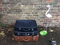 SET OF 3 x VINTAGE LEATHER SUITCASES FREE DELIVERY STORAGE