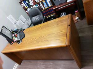 MUST GO! Vintage solid wood office furniture! Used by lawyers.