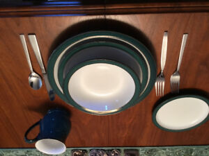 Denby five pieces 8 place settings new condition china
