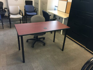 "Desk - High Quality Mahogany Surface 48"" x 24"" $80"