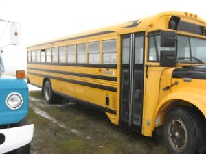 Converted school bus for livestock