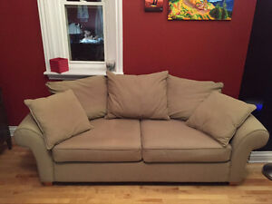 Beige Sofa Loveseat