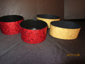 FLORAL CONTAINERS - 2 Gold and 2 Red NEW!