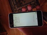 iPhone 5c white.  Telus / Kodoo. 60$