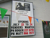 MATT'S FLEA MARKET OPENING JULY 23 & 24 FROM 9 T0 4PM!!