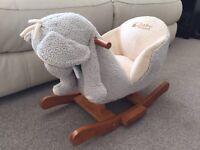 Baby weavers rocking elephant