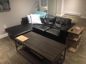 L shaped Black Couch