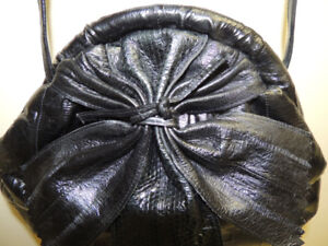 Black evening eel skin bag / purse