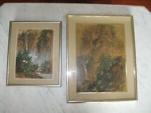 TWO frame original CORK paintings signed! look at pictures!