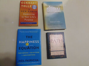 Self Help Books: Eckhart Tolle, Path, Happiness Equation