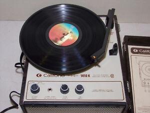 Table tournante amplifié institutionelle Califone 1410K année 70