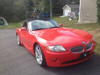 2004 BMW Z4 Red Convertible