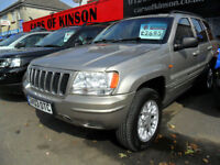 Jeep Grand Cherokee 2.7 CRD AUTO COMPLETE WITH M.O.T HPI CLEAR INC WARRATY
