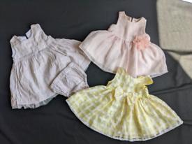 Baby girls cloths 0 3 months new born bundle summer dresses
