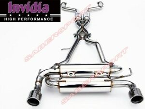 Invidia Gemini Rolled Stainless Steel Tip Cat-Back Exhaust for 03-08 Nissan 350Z