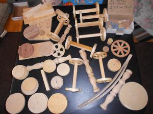 Pièces artisanales en bois pour bricolage