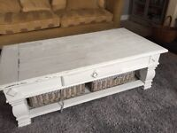 Distressed shabby chic coffee table