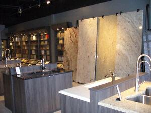Présentoir pour dalle de Quartz ou Granit