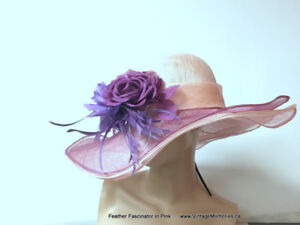 Brand new Feather Fascinator hair clips for Queen's Plate