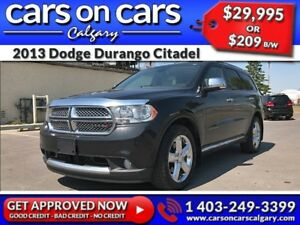 2013 Dodge Durango Citadel HEMI w/Leather, Sunroof, Navi, DVD $2