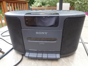 Sony Stereo/Surround Radio with Audio Tape Player and Alarm