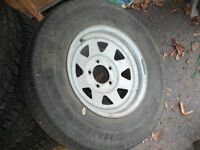 "2 - Galvanized 14"" Boat Trailer Tires"