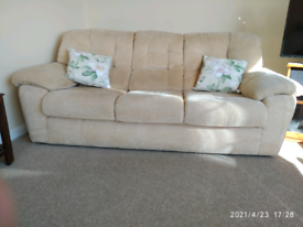 LARGE 3-SEATER HIGH BACK SOFA.
