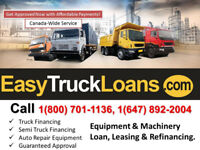 EASY TRUCK FINANCE QUICK APPROVAL-GOOD/BAD CREDIT