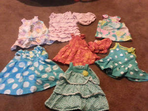 Girls 0-3months summer dresses and rompers