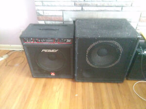 Peavy TKO 115 Bass amplifier and stage speaker London Ontario image 1