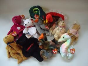 Lot of new TY beanie babies, new old stock