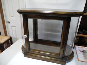 Vintage Oak and Glass Curio/Display Cabinet
