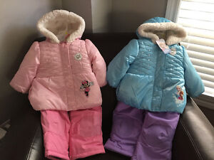 New! Disney 2 pc snowsuits size 18-24 mths reduced!!
