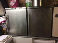 Commercial fridge and freezer