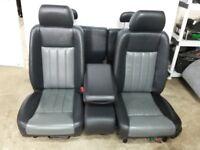 Dodge Dakota 2010 Black Grey LEATHER Front Rear Seats Crew Cab