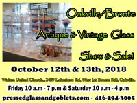 Oakville/Bronte Antique & Vintage Glass Show & Sale.