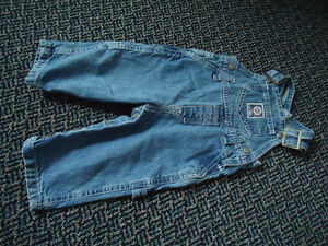 Boys Size 12 Months Nevada Light Blue Jean Overalls