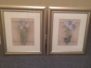 Two framed prints 8x14